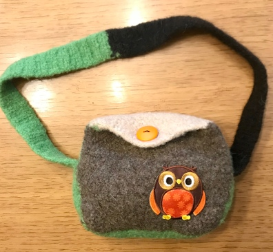Item-Felted Owl Purse-Front